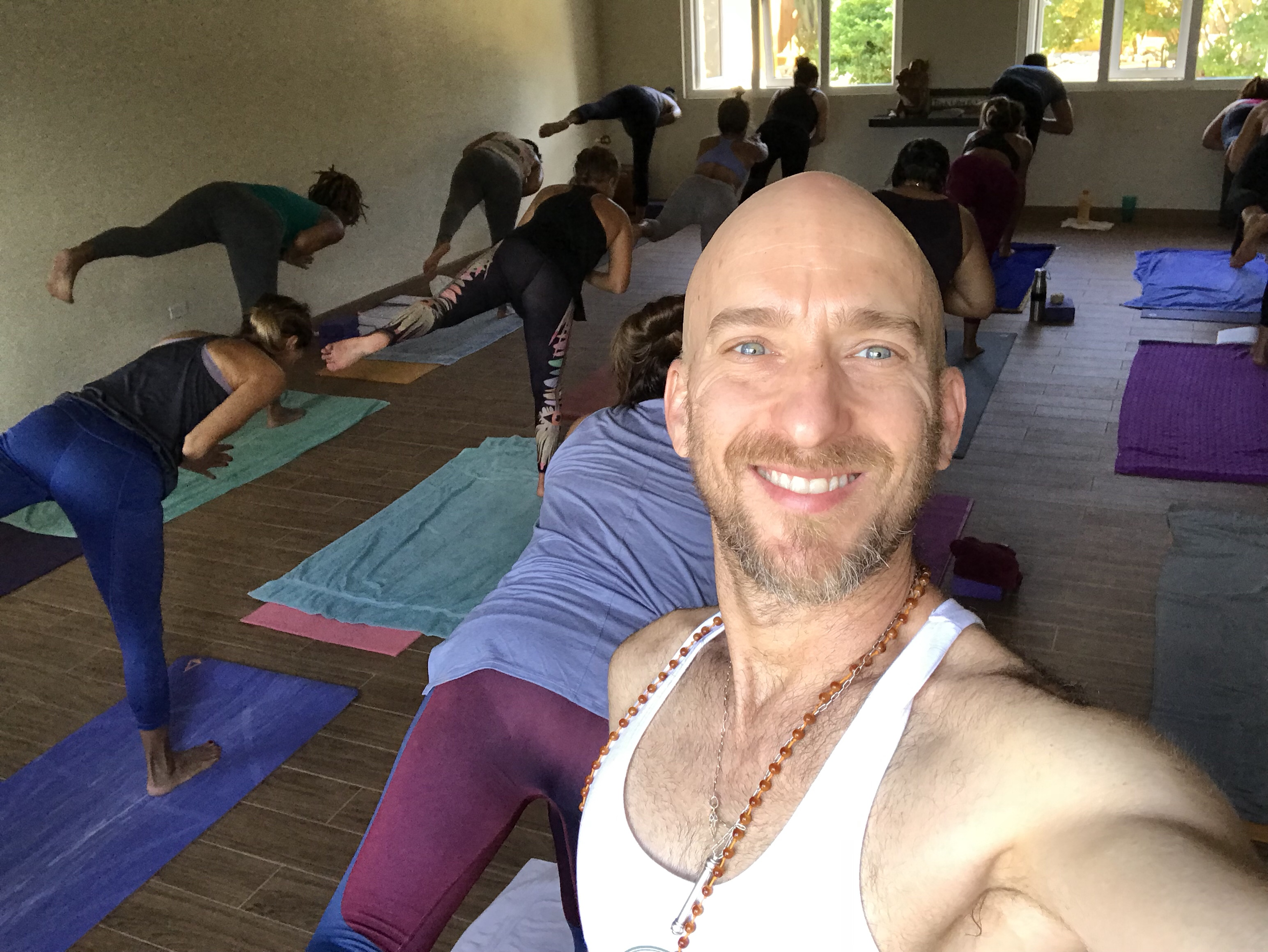 Practice Yoga At Home In English Or Spanish With Fred Busch